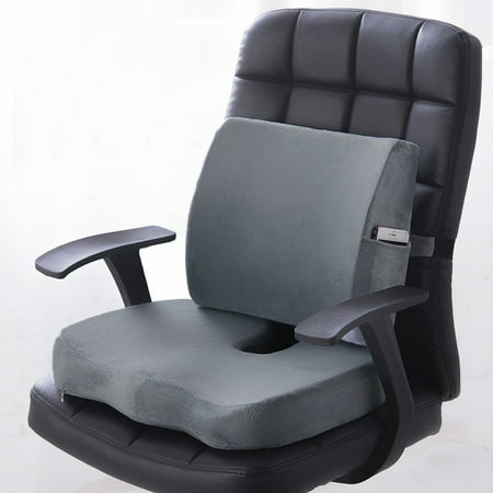 Premium Memory Foam Seat Cushion Lumbar Back Support Orthoped Home Car Office Chair Seat Pad Mat Pain Stress Relief