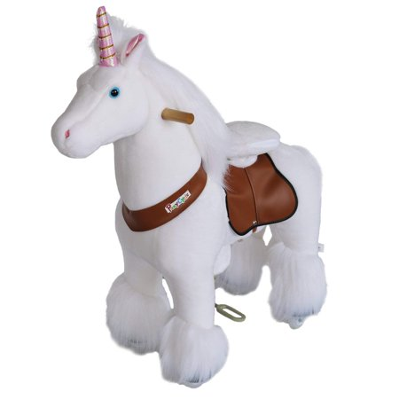 PonyCycle N3042 Ride On Mechanical Unicorn White Small for Age 3-5 - Mechanical Toys