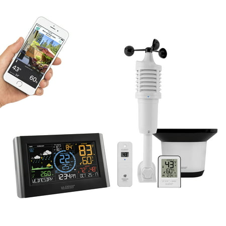 La Crosse Technology V22-WRTH Color Wireless WIFI Professional Weather (Best Home Weather Station Wifi)