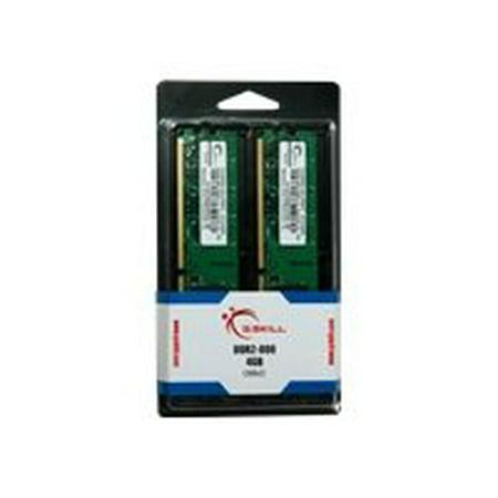 G.SKILL 4GB (2 x 2GB) 240-Pin SDRAM DDR2 800 (PC2 6400) Dual Channel Kit Desktop Memory F2-6400CL5D-4GBNT 10600 Dual Channel Kit Desktop