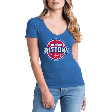 NBA Detroit Pistons Women's Short Sleeve V Neck Graphic (1989 Detroit Pistons)