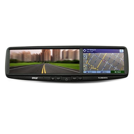 Pyle Hd Smart Rearview Backup Camera And Mirror Monitor System With Gps Navigation  Bluetooth  Dvr Recording And Night Vision Cam