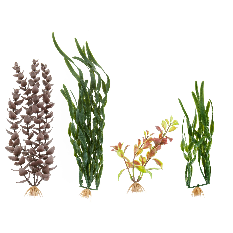 MarineLand Multi-Pack Assorted Plastic Plants, Tall