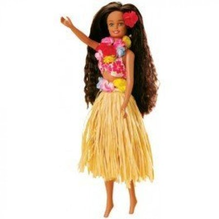 Hawaii's Hula Doll - with Natural Raffia Skirt - fits most Barbie clothes (Hula Barbie Doll)
