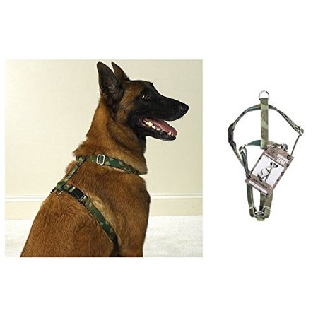 "GUARDIAN GEAR GREEN CAMO HARNESS for DOGS 14"" to 20"" x 5/8"" Medium CLOSEOUT !"