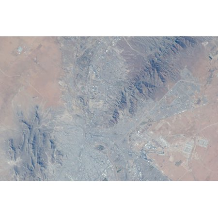 View from space showing parts of Texas and New Mexico Poster Print by Stocktrek