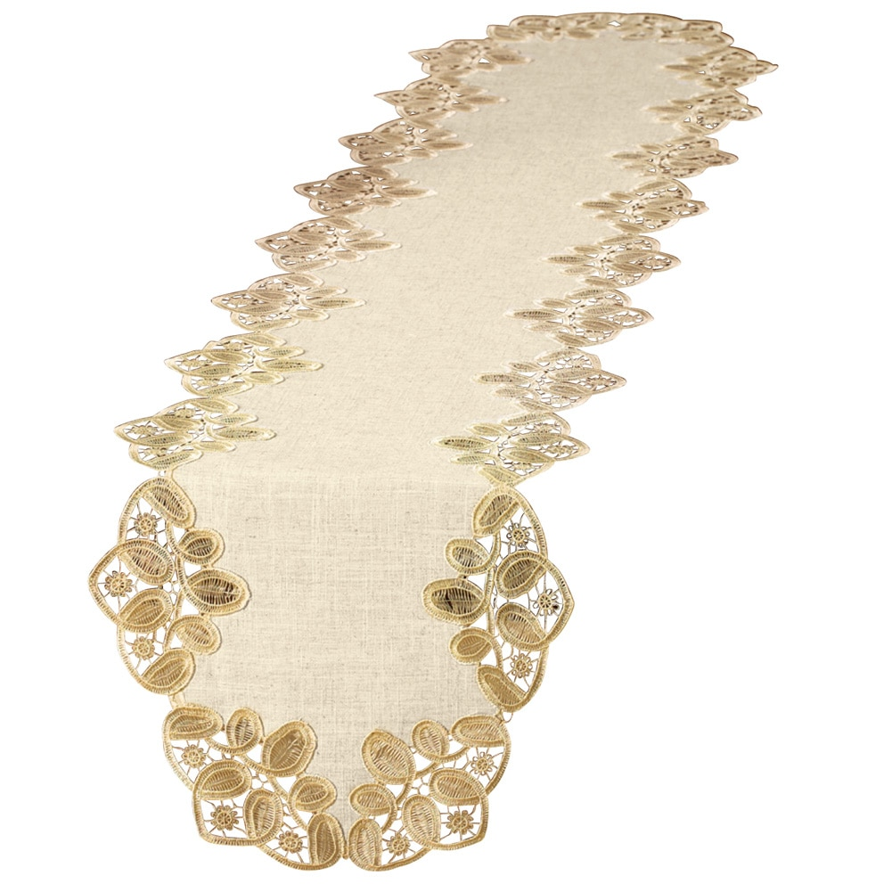 Embroidered Elegant Table Linens, Runner, Multi by Collections Etc