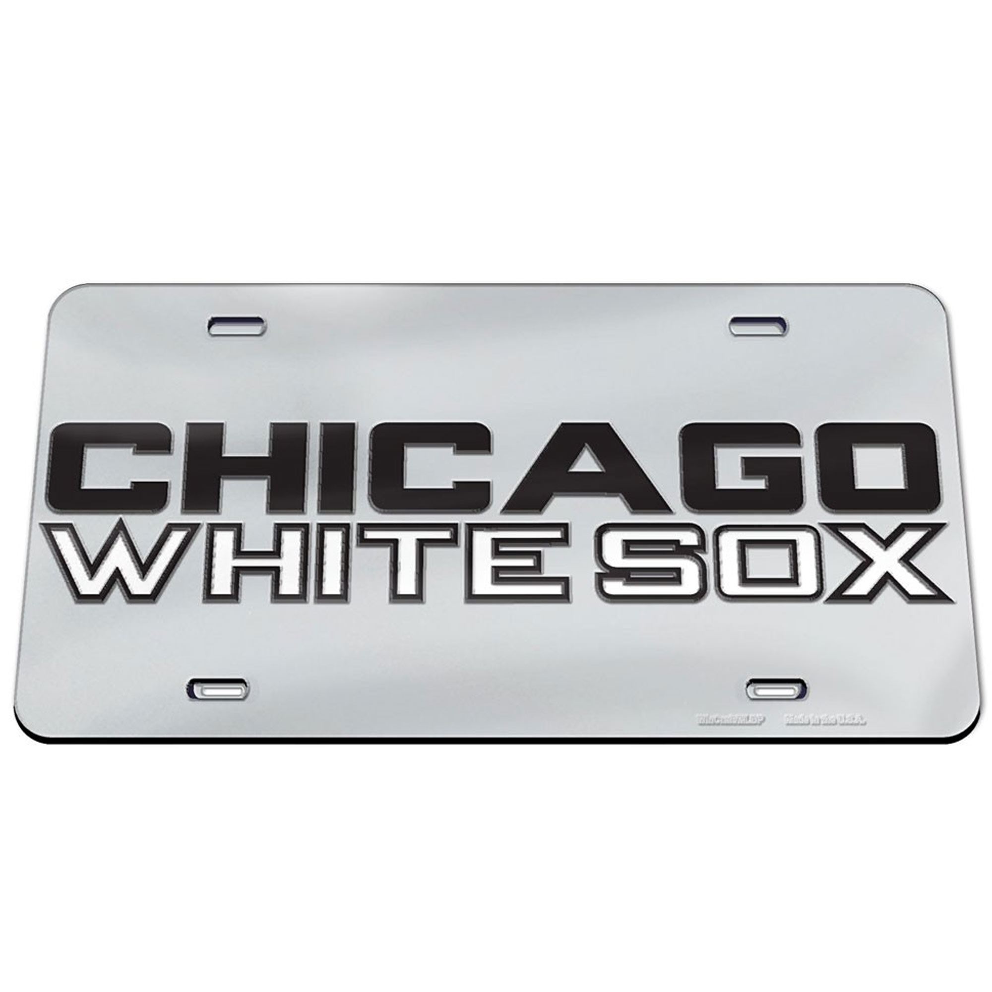 Chicago White Sox WinCraft Crystal Mirror License Plate - No Size