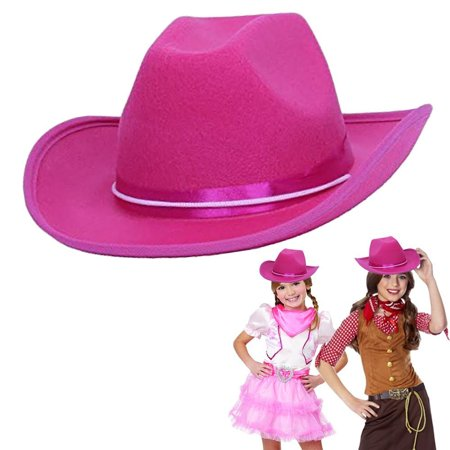 Cowgirl Hats For Kids (dazzling toys Cowgirl Pink Hat Child Country Pink Felt Costume)