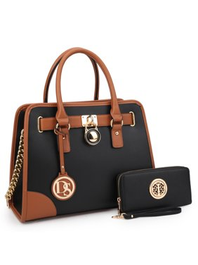 MKP COLLECTION Women Handbags Top Handle Satchel Purse Shoulder Bag Briefcase Hobo Bag Set 2pcs