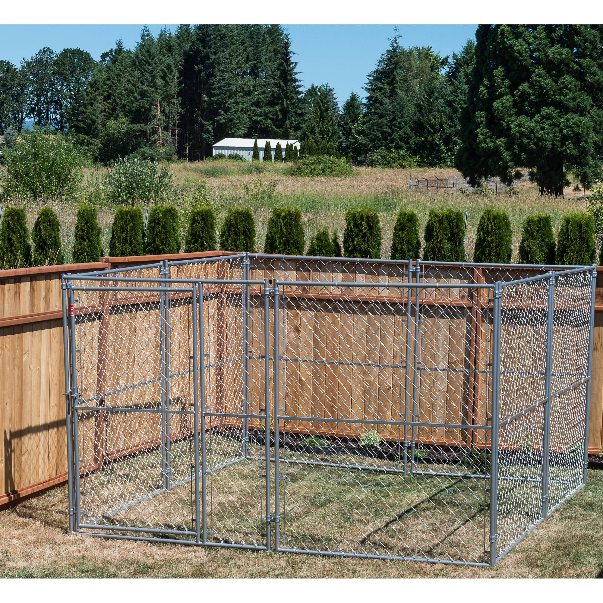 Lucky Dog 6'H x 10'W x 10'L Modular Chain Link Kennel Kit