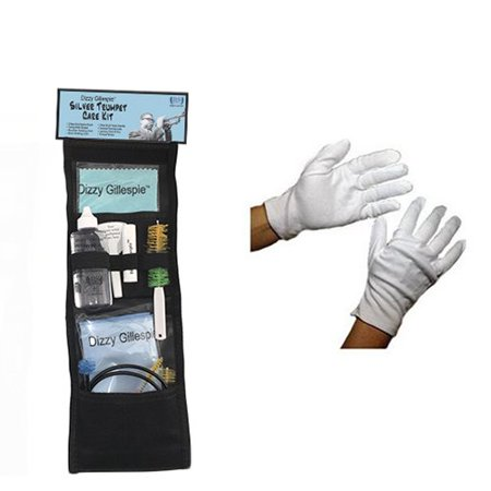 Dizzy Gillespie Paramount Series Silver Trumpet Care & Cleaning Kit w/Bonus  Marching Gloves