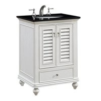"Elegant Lighting VF-1022 Antique White Northport 25"" Wide Vanity Set"