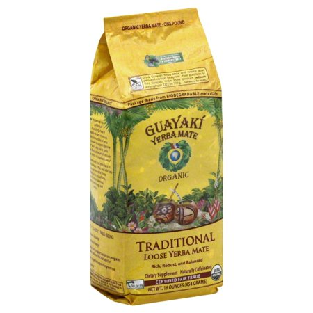 Guayaki Organic Brand Yerba Mate Traditional Loose Leaf, 16.0 OZ