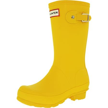 Hunter Boy's Original Kids Knee-High Rubber Rain Boot (Hunter Boots Flats)