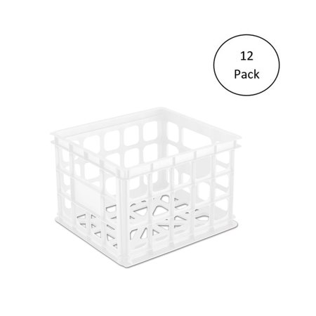 Sterilite Plastic Storage Box Crate Container for Home or Office (12 Pack) ()