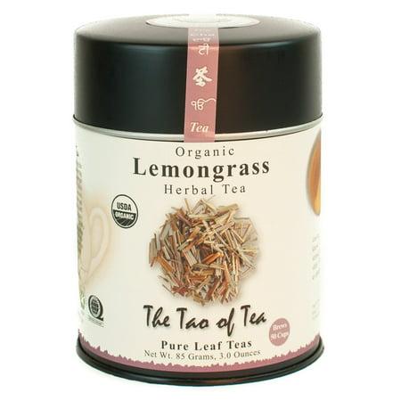 Lemon Leaves (The Tao of Tea, Organic Lemongrass Herbal Tea, Loose Leaf Tea, 3 Oz Tin)