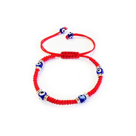1 Red Kabbbalah Macrame Bracelet Evil Eye Bead Blue Hamsa Luck Charm Hand Adult