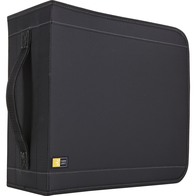 Case Logic 320 Capacity CD Wallet - Slide Insert - Nylon - Black - 320 CD/DVD