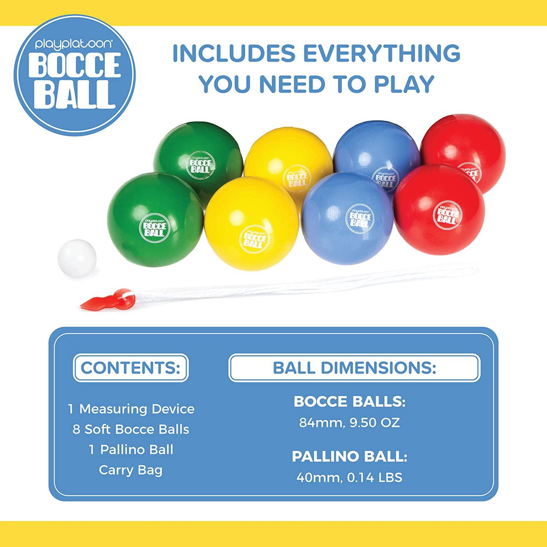 Pallino Carry Bag /& Play Platoon Beach Bocce Ball Set with 8 Soft Bocce Balls
