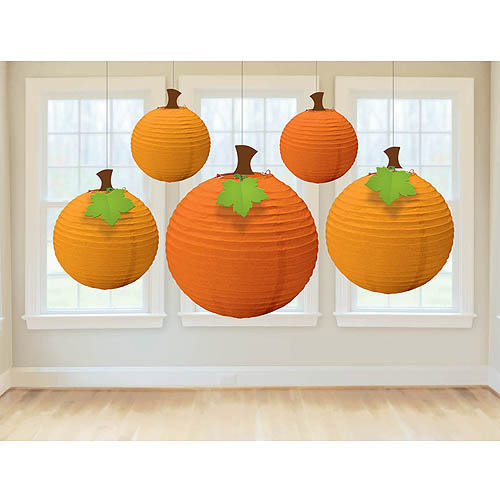 Fall Round Paper Lanterns (Each) - Party Supplies