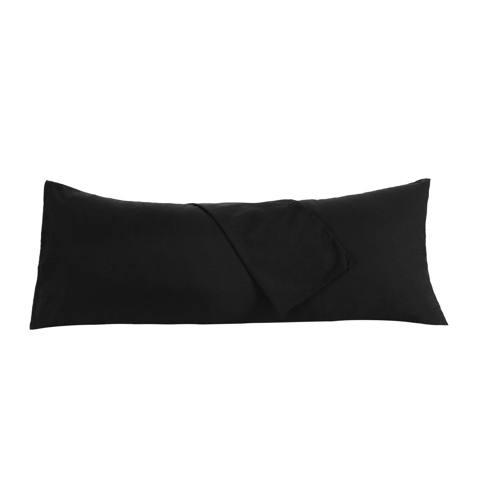 """Body Pillow Case Microfiber Long Bedding Covers for Body Pillows Black 20""""x60"""" - image 3 de 7"""