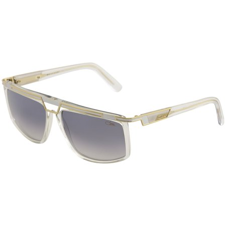 Cazal Legends Men's 8036 003 Crystal/Gold Fashion Square Sunglasses (Clear Cazal Sunglasses)