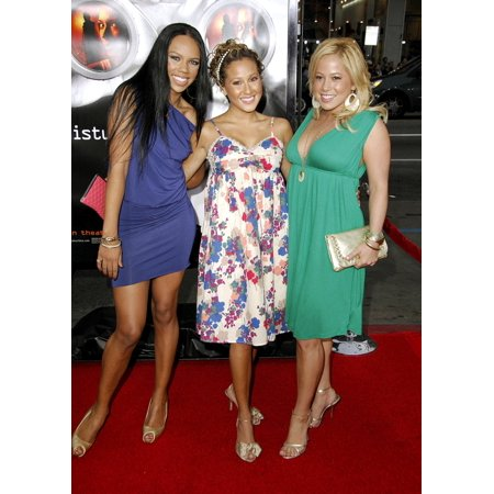The Cheetah Girls At Arrivals For Disturbia Premiere GraumanS Chinese Theatre Los Angeles Ca April 04 2007 Photo By Michael GermanaEverett Collection Celebrity - Aqua From Cheetah Girl
