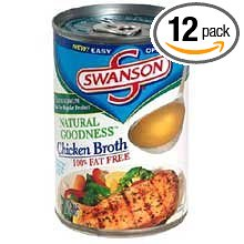 12 PACKS : Swanson Natural Goodness Chicken Soup Broth - 49.5 oz. can.