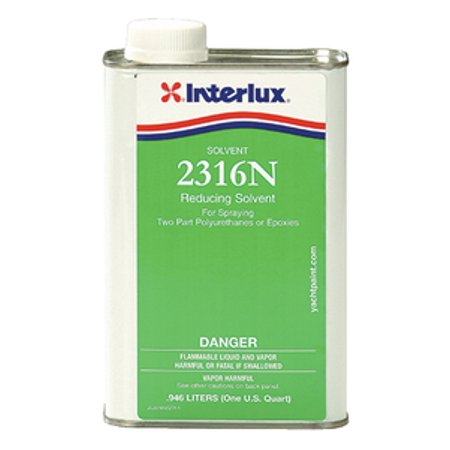 Interlux Yacht Finishes / Nautical Paint Reducing Solvent For Spraying 2316N/QT