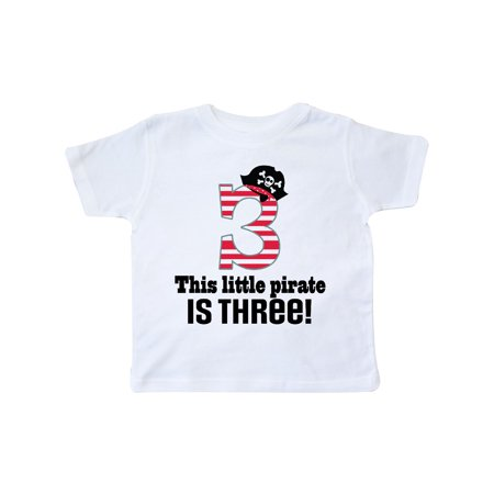 3rd Birthday 3 Year Old Pirate Party Boy Toddler T-Shirt (Cute 14 Year Old Boys)