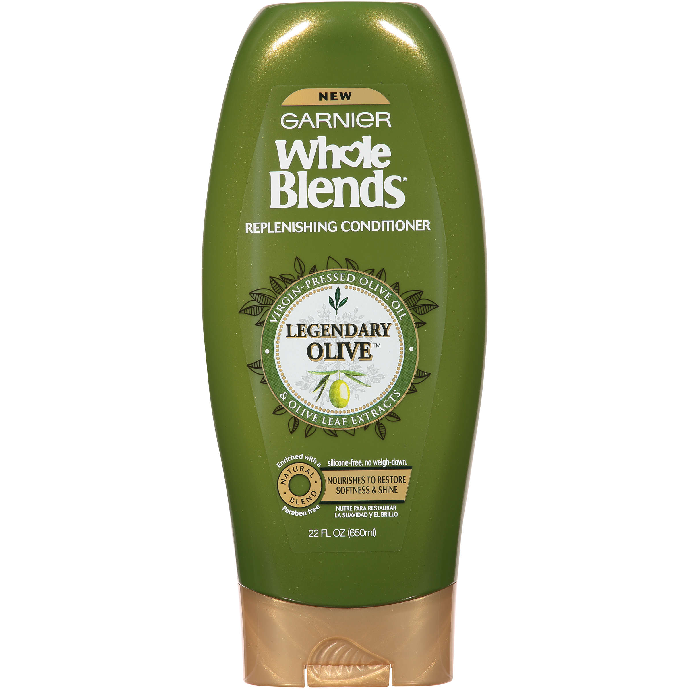 Garnier Whole Blends Replenishing Conditioner Legendary Olive 22 FL OZ