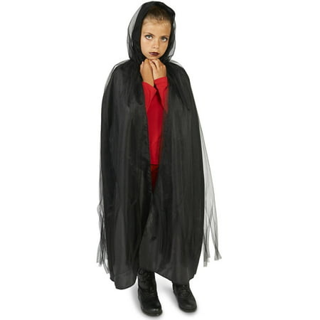 Black Mesh Child Cape Halloween Accessory - Ao No Exorcist Halloween