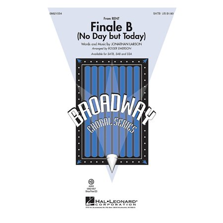 Hal Leonard Finale B from Rent SAB Arranged by Roger Emerson (Rent Karaoke Halloween)