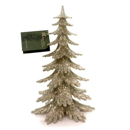 Christmas PLATINUM GLITTER TREE Plastic Holiday Sparkle Lo1853 ()