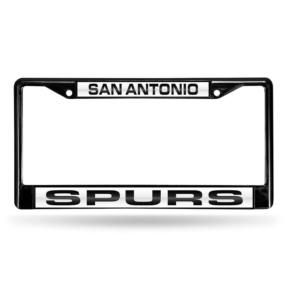San Antonio Spurs NBA Black Chrome Laser Cut License Plate Frame