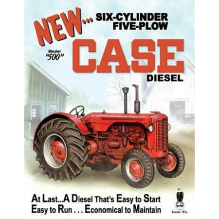 Case 500 Diesel Tractor Tin Sign - 12.5x16
