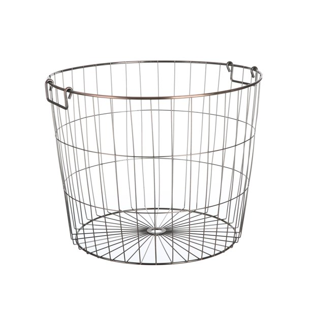 Mainstays Large Carbon Steel Copper, Large Round Wire Basket