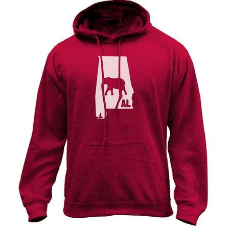 Original I Elephant Alabama Classic University Pullover Hoodie Sweatshirt ()