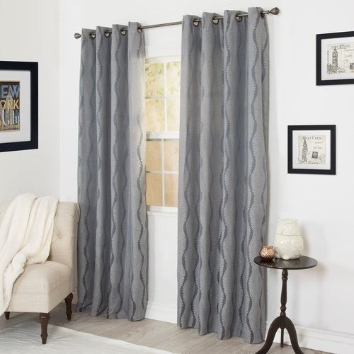 Somerset Home Angelina Jacquard Curtain Panel Set, 84""