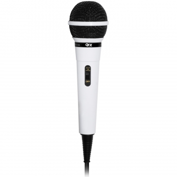 QFX Dynamic Professional Microphone- White by Quantum FX