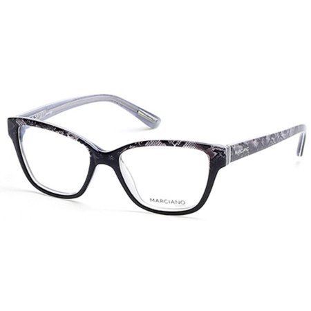 Guess By Marciano GM0280-005-51 Cat Eye Womens Black Frame Clear Lens Eyeglasses ()