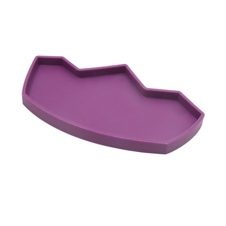 3.1x5.7 Inch Purple Plastic Bowl Water Food Dish for Reptile Terrarium