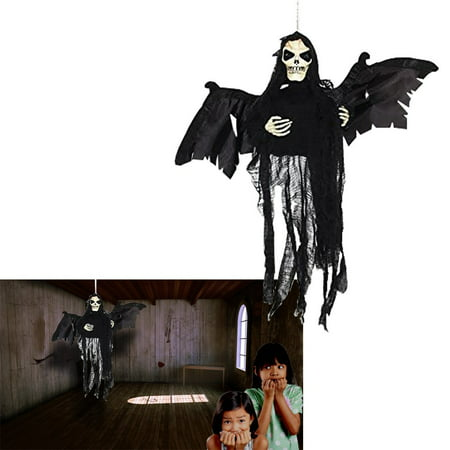 Flying Ghost |  Hanging Floating Skeleton Ghost | Halloween Decoration Shaking Ghost | Dazzling Toys (Ghosts Hanging In Trees Halloween)