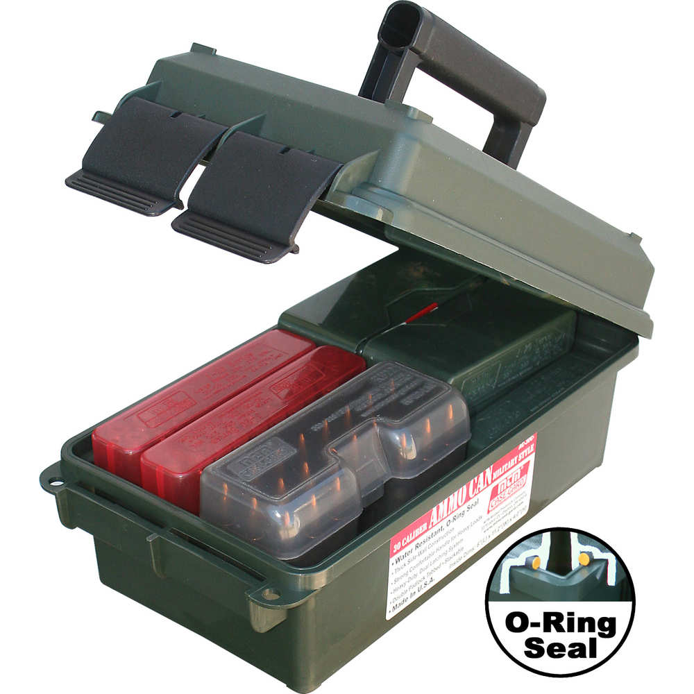 "MTM AC30C11 Ammo Can, 30 Caliber, 7.4"" x 13.5"" x 5.1"", Poly Forest Green"