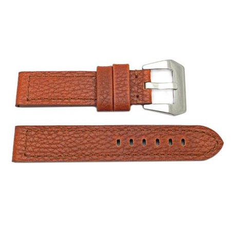 Genuine Textured Leather Thick Panerai 22mm Honey Brown Watch Band