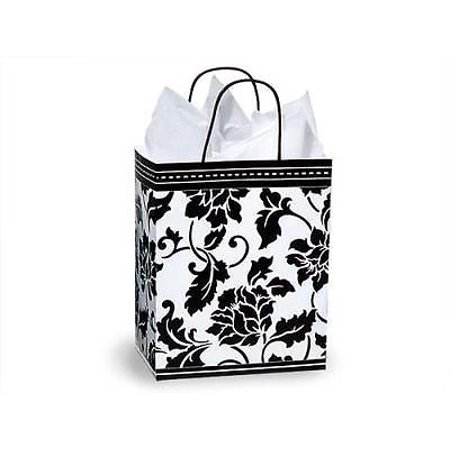 1 Unit Cub Floral Brocade Paper Bags Mini Pk 8-1/4x4-3/4x10-1/2