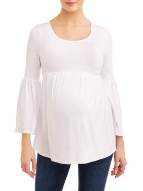Planet MotherhoodMaternity solid bell sleeve knit top