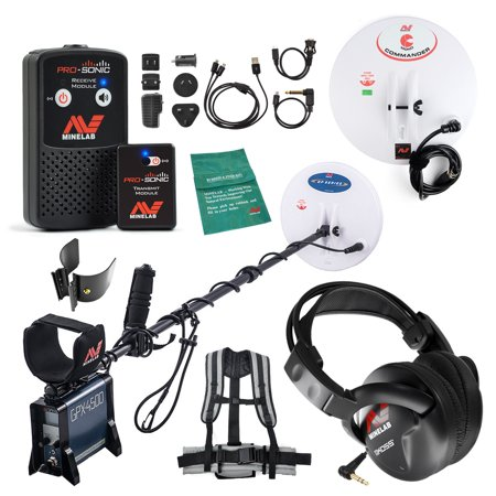 Minelab Special GPX 4500 Detector with PRO-SONIC Wireless Audio (Best Settings For Minelab Gpx 5000)