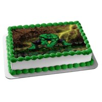 incredible hulk party decoration edible cake image topper frosting sheet party